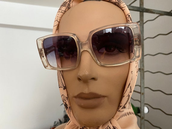 1960s Givenchy Tania  Rare Clear Perspex  Sunglas… - image 8