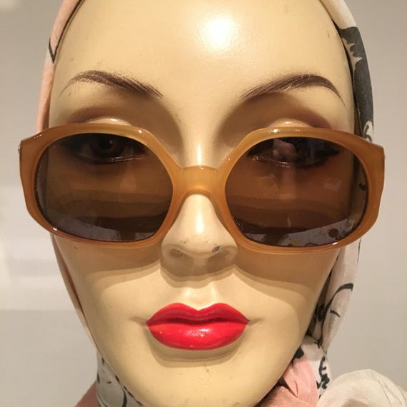 1960s Dior Amber Sunglasses