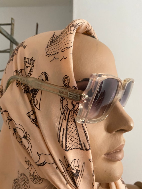 1960s Givenchy Tania  Rare Clear Perspex  Sunglas… - image 4