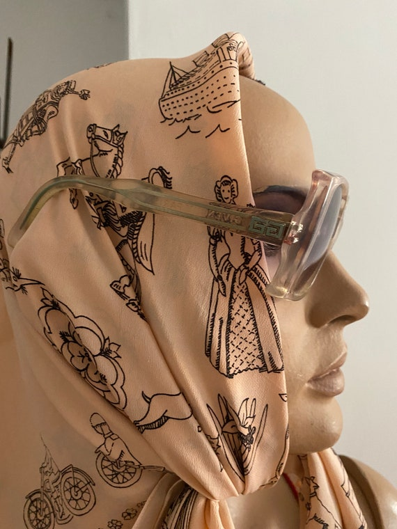 1960s Givenchy Tania  Rare Clear Perspex  Sunglas… - image 6