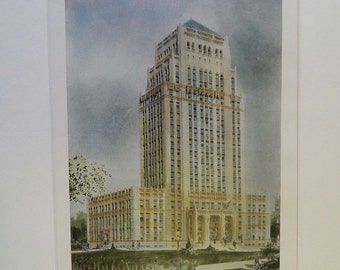 1876 New Jersey Hotel at Princeton Architecture Original Plan Hand Colored Potter /& Robertson Antique Vintage Architects
