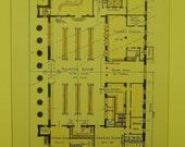 Terminal, Lehigh Valley Railroad, Buffalo, New York, 1915. Murchison, Architects. Hand Colored, Original Plan, Architecture, Vintage