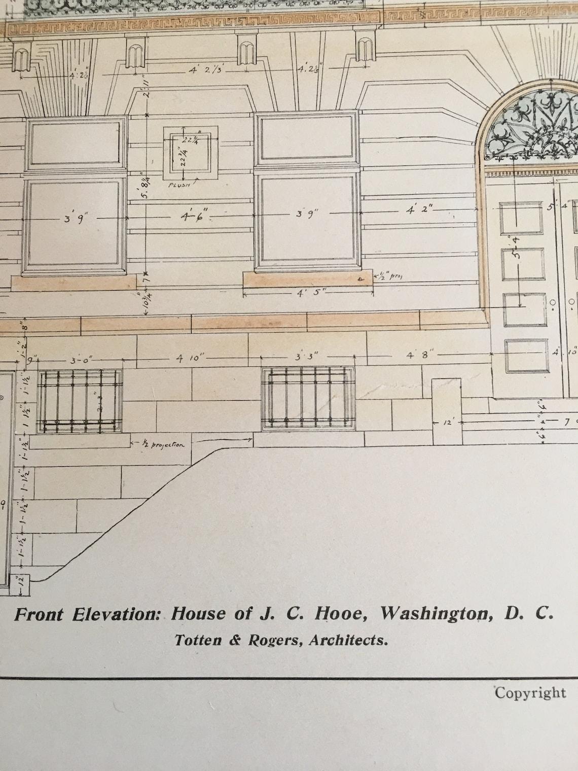 House of J. C. Hooe, Esq., Washington, DC, 1904