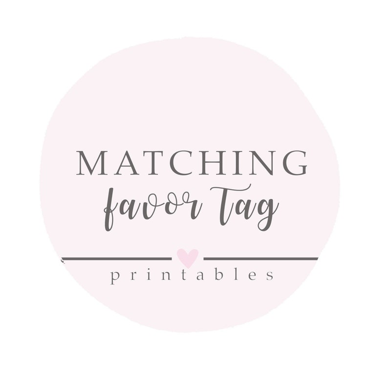Matching Favor Tags printable favor tags digital favors image 0
