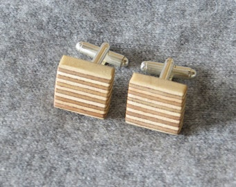 Wooden Cufflinks - 5th Wedding Anniversary Gift - Father's day Gift - Gifts for Men - Groomsmen gifts