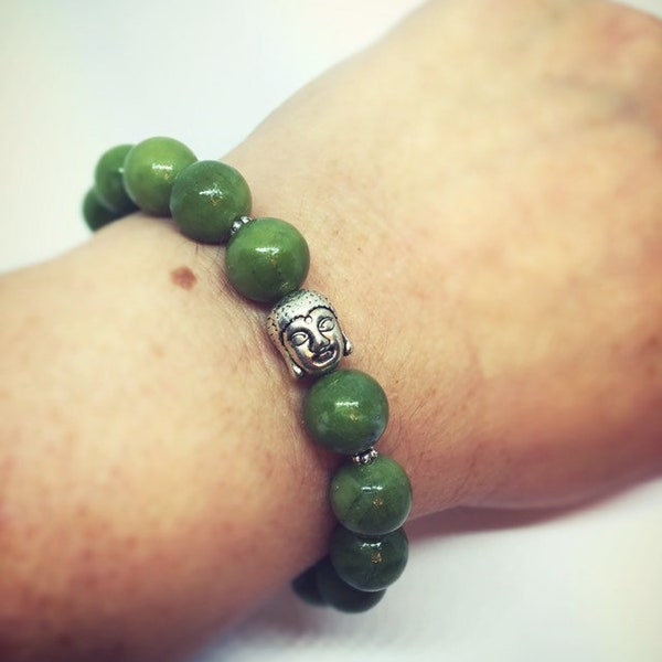 Jade Bracelet with Buddha image 1