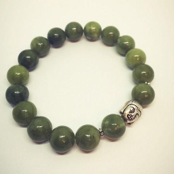Jade Bracelet with Buddha image 3