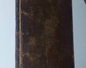 Antique Rare Old Book Religious Religion Christian Early 1800's Pious Parishioner 1833 Edition