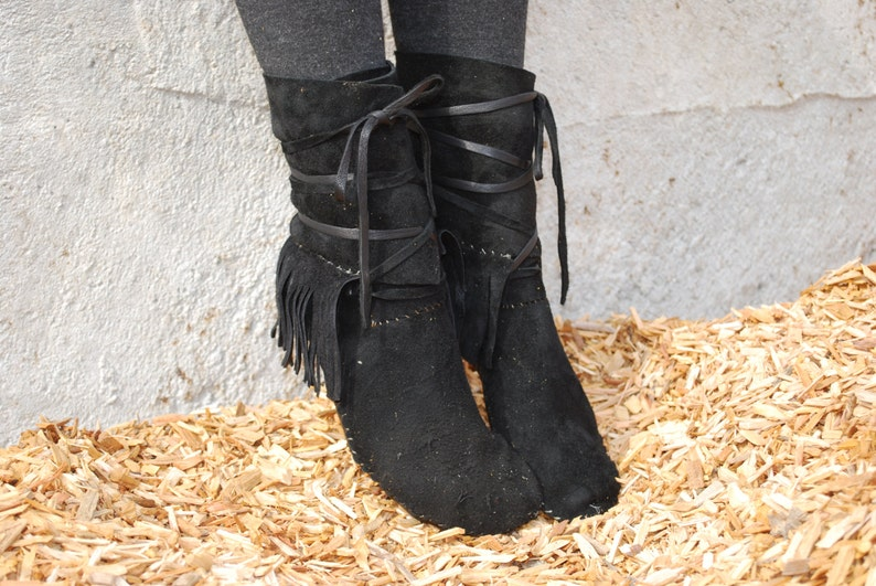 8be0e69c03b1f Suede Fringed Moccasin boot for men or women