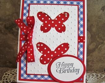 Handmade Birthday Card - Butterflies