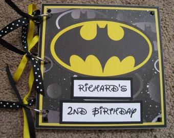 Superhero Wedding Black and Pink Wedding Guest Book Batman Wedding Guest Book