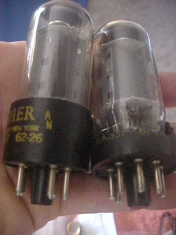 7591 Audio Tube The Fisher 62-26 Vintage 60s Tests Very Good