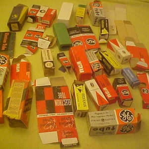 6211 12AU7 tubes lot of 3 Vintage 60s New Old Stock for preamps amps tuners int-amps RCA one for HP by RCA in original nos boxes