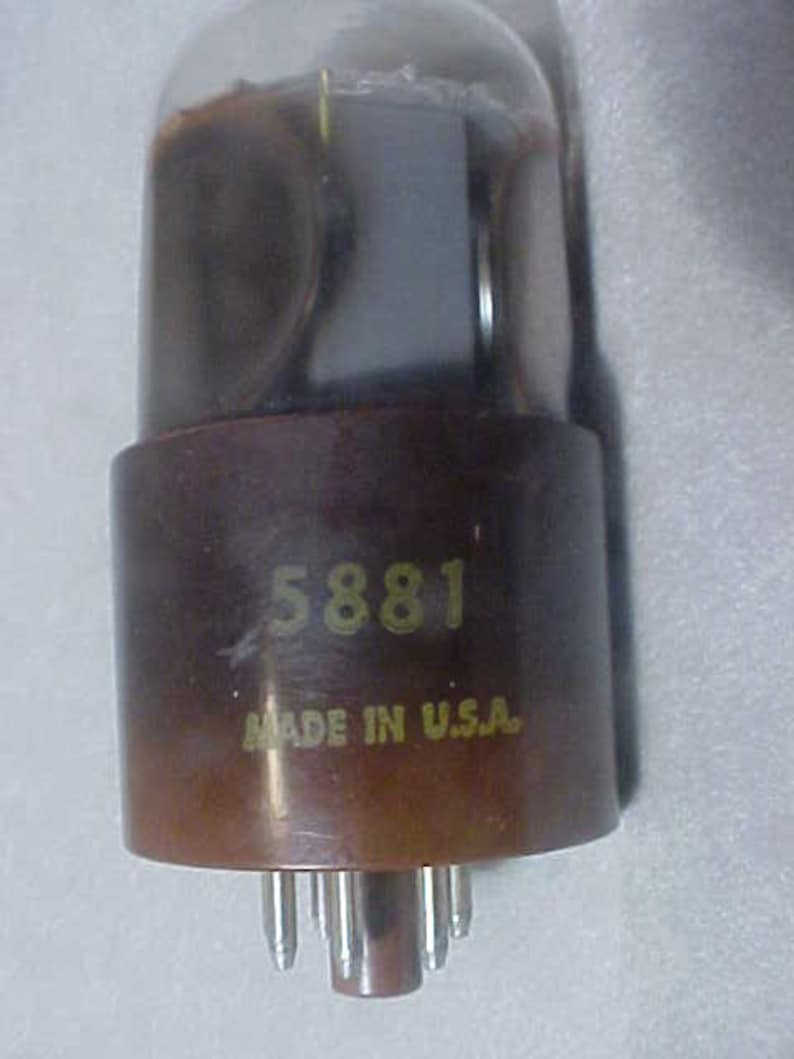 5881 6L6 Very Rare Amperex Tube vintage audio 60s for Guitar Amp etc  testing strong 5k of 5k