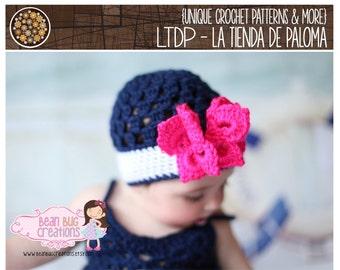 INSTANT DOWNLOAD - Crochet Butterfly Hat Pattern - Baby hat pattern - Crochet butterfly pattern
