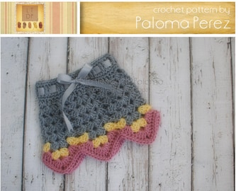 INSTANT DOWNLOAD - Baby Granny Skirt  Pattern- Crochet Baby Skirt Pattern - Baby skirt crochet pattern