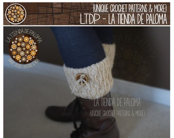 INSTANT DOWNLOAD - Crochet Pattern for Dancing Waves Boot Cuffs