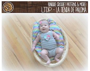 INSTANT DOWNLOAD - Crochet Lake Baby Romper