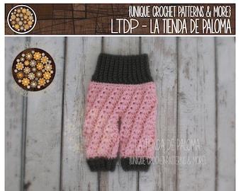 INSTANT DOWNLOAD - Crochet Baby Pants Pattern - Crochet Baby Swirl Pants - Crochet Pants - Crochet Pattern