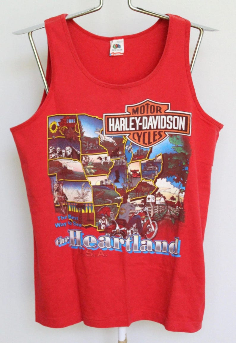 a50c05291c39b4 Vintage Harley Davidson Tank Top T Shirt Mens Medium   Large
