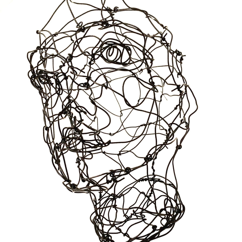 3D Draht Skulptur Büste Skulptur Draht Gesicht Skulptur | Etsy