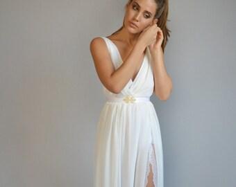 V neck wedding dress   Etsy