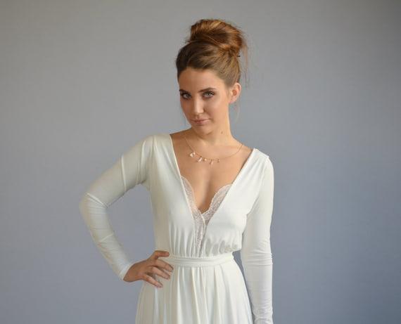 Simple Wedding Dress Lace Wedding Dress Long Sleeves Wedding