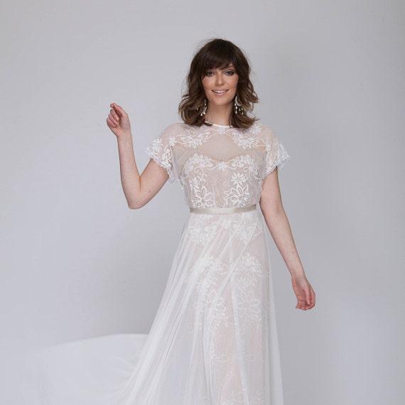 Bohemian Lace Wedding Dress All Lace Wedding Dress Lace Etsy