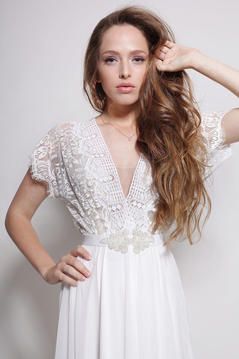 Boho wedding dress bohemian wedding dress Bohemian lace image 0