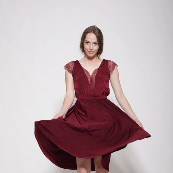 690506d31f Bridesmaids dress knee length bridesmaid lace dress prom | Etsy