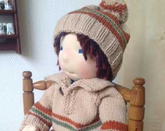 Waldorf Doll Boy - Rocky - Waldorf inspired doll, Steiner doll, cloth doll,organic waldorf doll