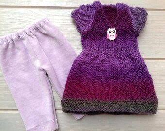 """Gorgeous sweater and pants for Waldorf Doll 16"""" - 17"""""""