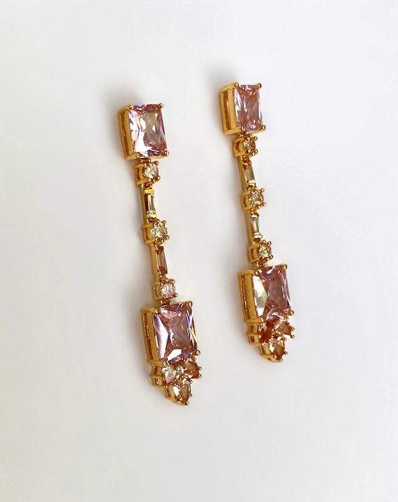 Gold Vermeil Large Stone Morganite Pink Sapphire … - image 4