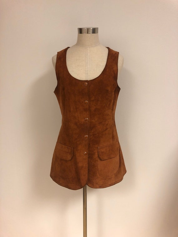 Rust Suede Tunic 60s M