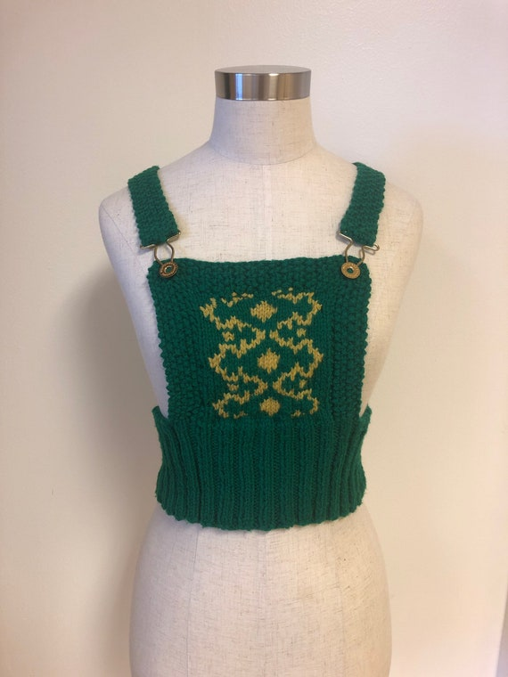 Green Knitted Overall Pullover One Size