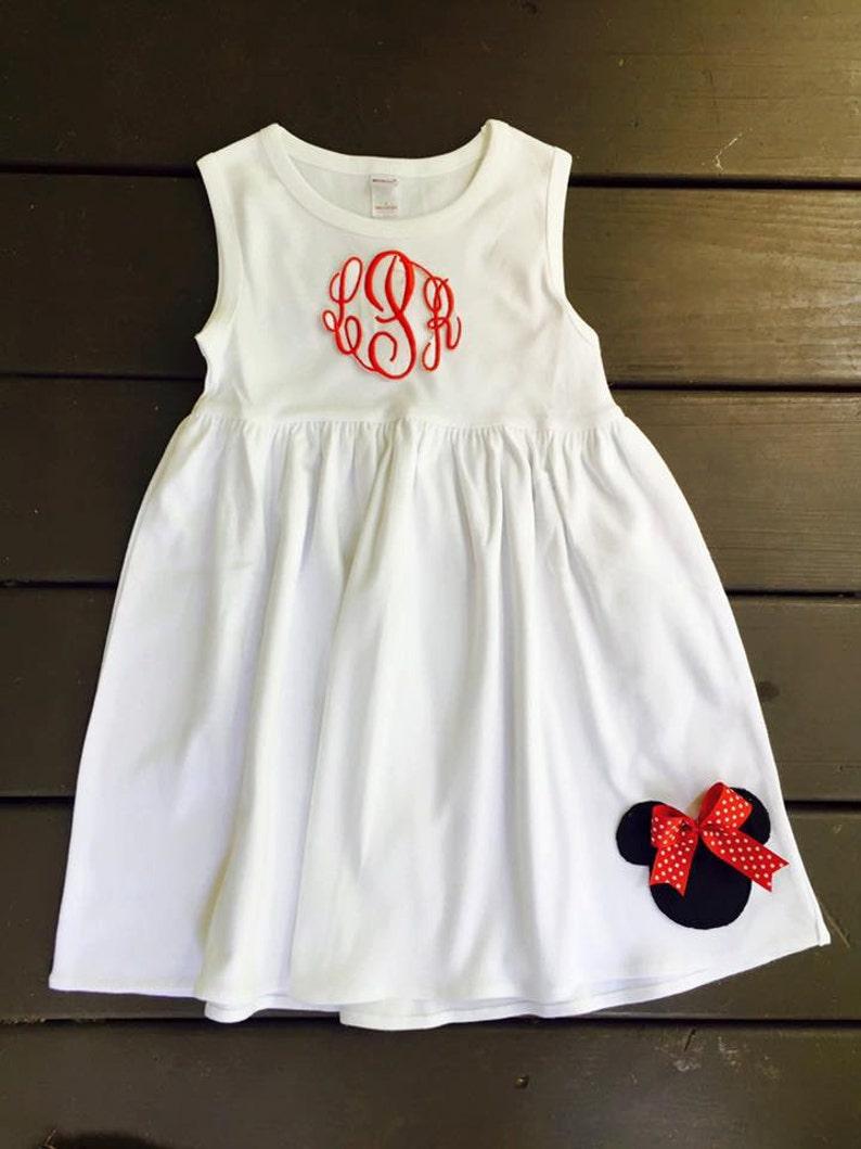 6fecdf78371aa4 GEPERSONALISEERDE muis jurk Monogram jurk-mouse jurk-rood en