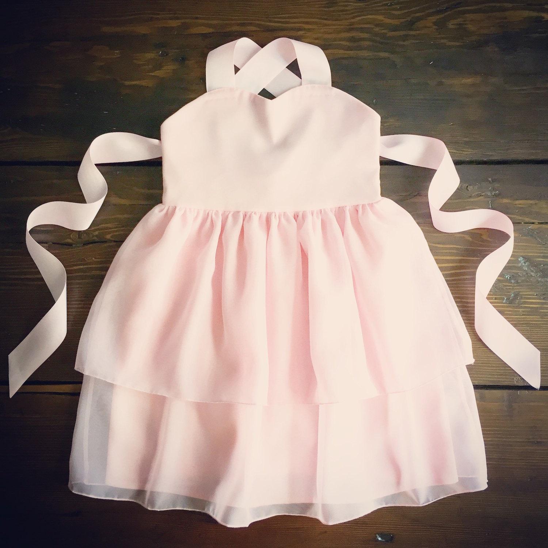 Blush Chiffon Flower Girl Dress Light Pink Toddler Chiffon Etsy
