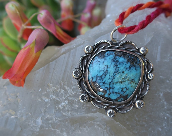 Loose Ends - Turquoise with Pyrite Pendant