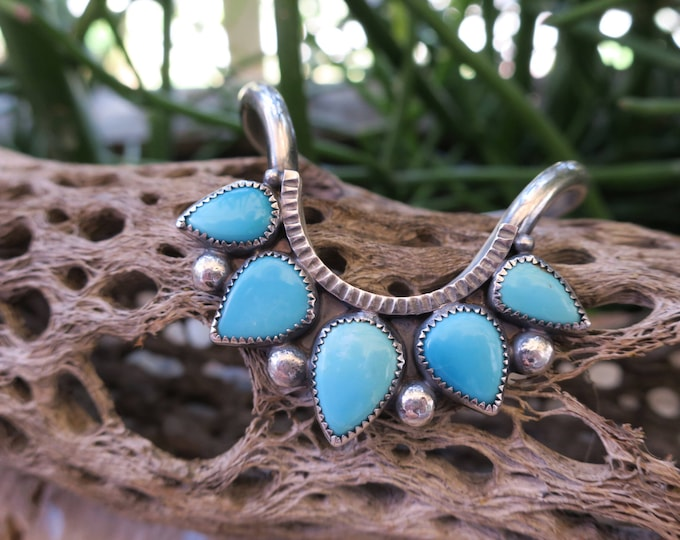 Sleeping Beauty Turquoise Drop Cuff