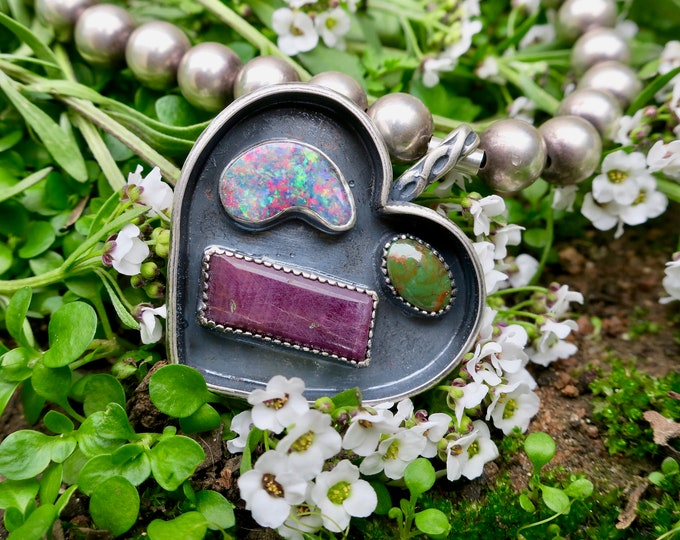 Love Me, Love You Not Collection. Treasure Shadowbox Necklace.