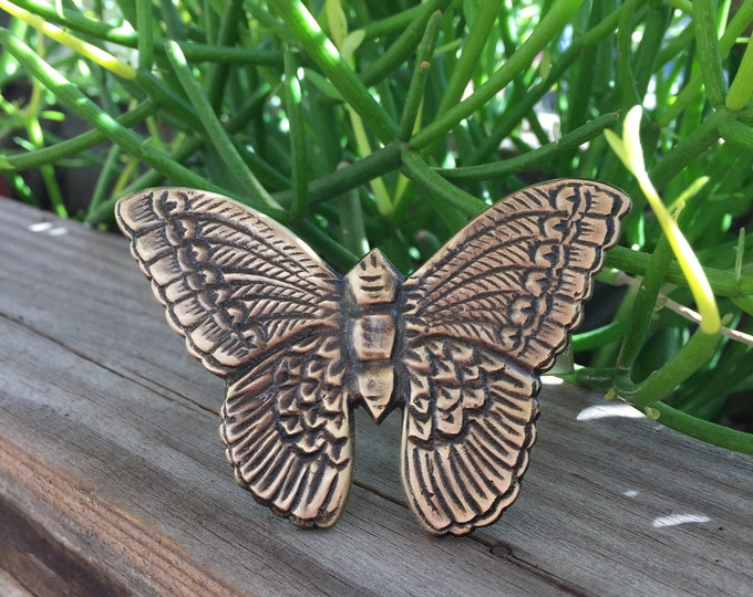 Brass Butterfly Cuff Bracelet