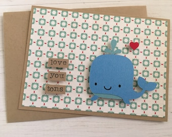 Love You Tons Whale Card