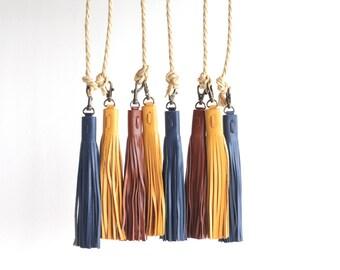 Leather Bag Charm. Tassel Handbag Charm. Tassel Purse Charm. Tassel  Keychain. Tassel Key Fob. Tassel Key chain. c44d0fce741bc