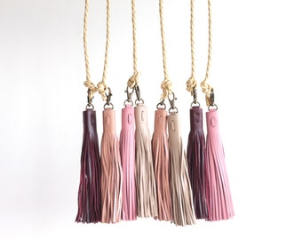 More colours. Leather Tassel. Leather Bag Charm. Tassel Handbag Charm. Tassel  Purse Charm. 960cf4eece4c5
