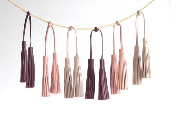 Leather Tassel. Leather Bag Charm. Leather Handbag Charm.  4c35fe03149f0