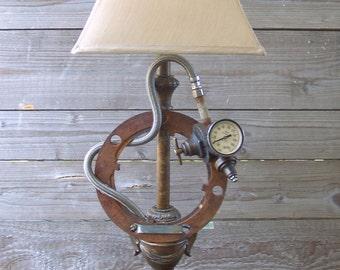 Industrial Steampunk Gauge Vintage Table Desk Lamp Light