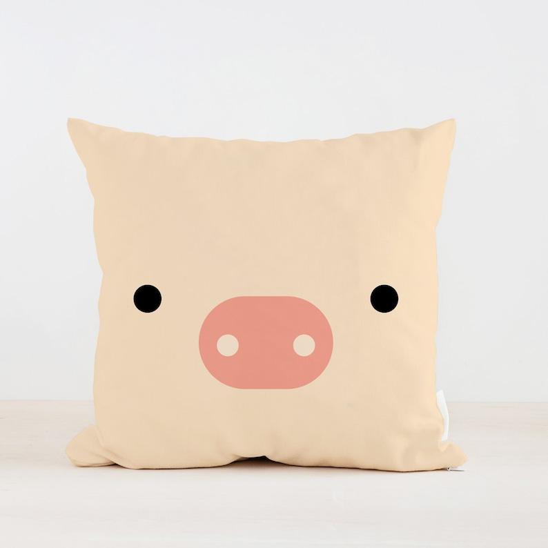 Tierischen Piggy Kissen, Kinderzimmer Kissen, Kinder Kissen Kissen, Home  Dekor, Kinder Zimmer Dekoration