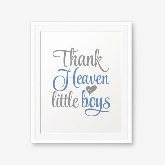 Gott Sei Dank Für Kleine Jungs Printable Junge Kindergarten Etsy