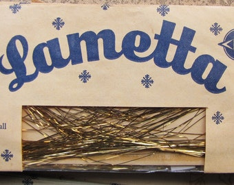 vintage metal tinsel - 1980s gold leonean wire - angel hair - lametta echt leonisches metall - Christmas tree decoration - 1 pkt