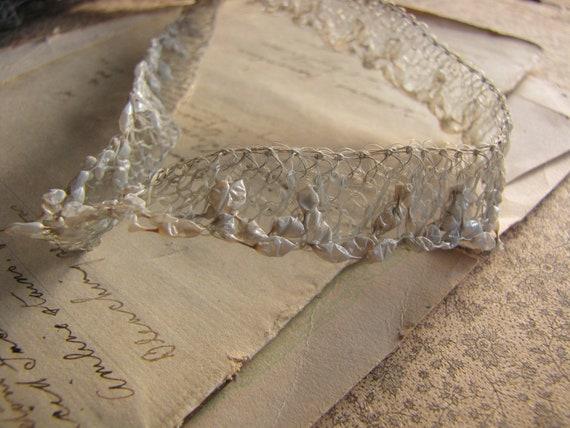 Craft Wedding Woven Ivory Raffia Ribbon Trim Card Making 1 Mtr.
